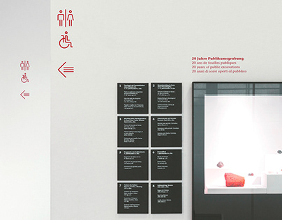 Signage and Icon concept, Augusta Raurica