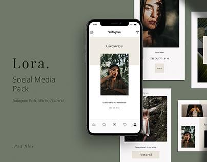 LORA - Social Media Pack. Creative & stylish design