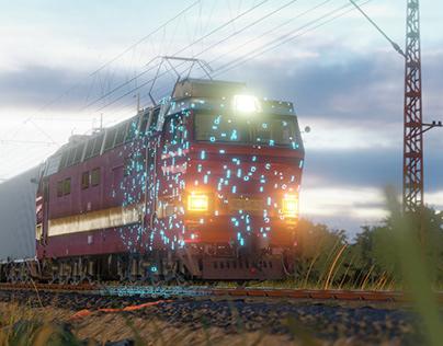 ChS4 Skoda electric locomotiv
