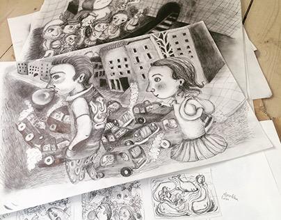"""Childrens book """"TOVE TÆNKER; ALENE I LONDON"""""""