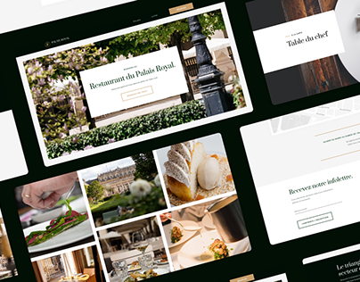 Restaurant du Palais Royal - Web design