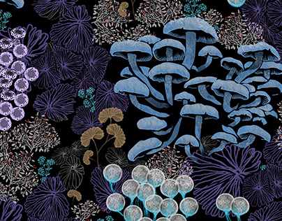 Magic Mushrooms Patterns