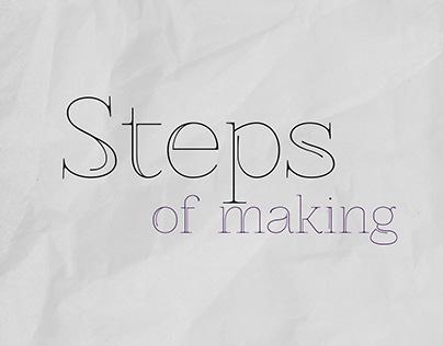 Steps Of Making - Pt.1 - My Logo