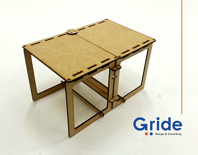 Gride - Lasercut Cowork Table