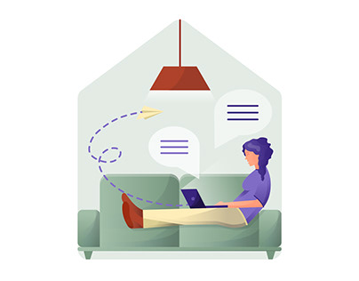 Work from home | Illustrations