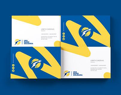 Fundación una Mano Solidaria branding