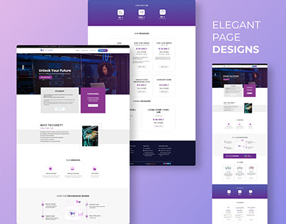 Homepage design for Technet Consultancy