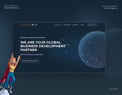 Landing page for consulting agansy