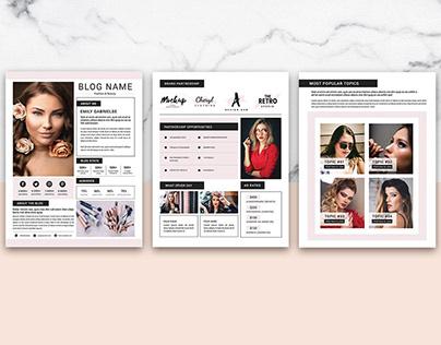 Fashion Blogger Media Press Kit Template