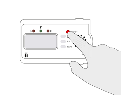 Illustration using a KORG guitar tuner