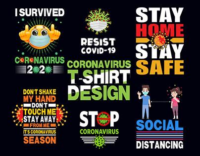 Coronavirus T-shirt design