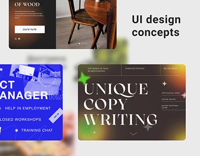 5 UI design concepts | Homepage