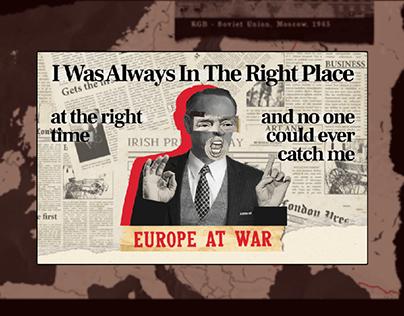 Spy world of the XX century - web-design concept