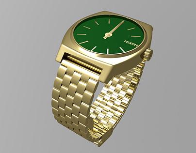 Publicité fictive pour la montre Nixon Time Teller