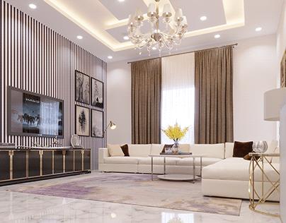 Modern Tv Lounge Interior Design By Wahab Ahmad