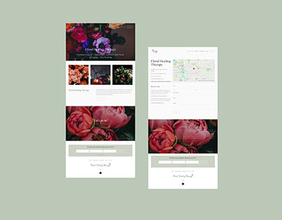 Floral Healing Therapy Logo & Website Design