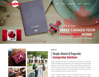 Tricolor Immigration - Website Design & Development