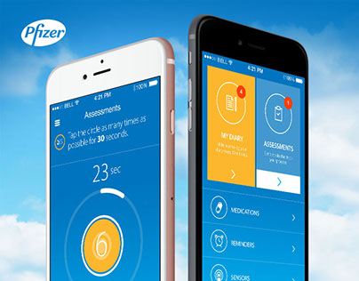 Pfizer Dyskinesia iOS App + Responsive Dashboard