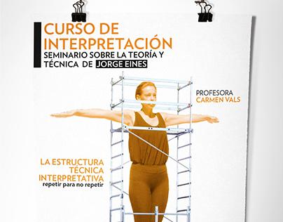 Poster Curso de interpretación