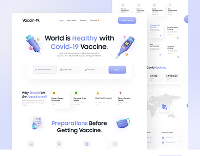 Vaccin-19- Vaccination Landing Page