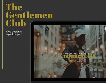 Gentlemen Club Web design project