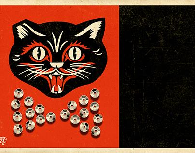 Black Cat Sequins Bowtie