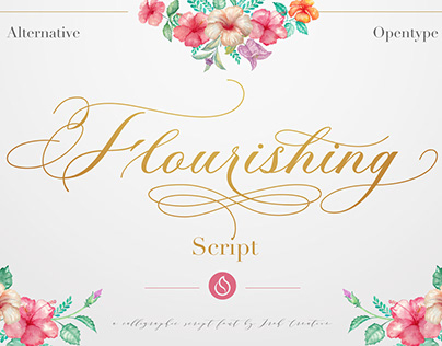 Flourishing Script - $13 intro sale