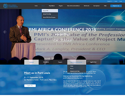 WEBSITE LAYOUT DESIGN - PMI AFRICA CONFERENCE