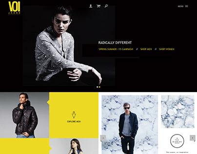 VOI Jeans India Website design & development