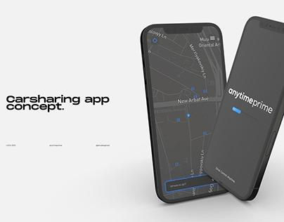 Carsharing Mobile app UX/UI