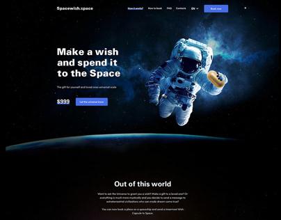 Spacewish landing page