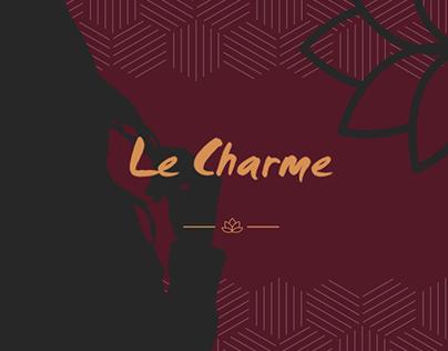 Maquette Le Charme, Institut de beauté, salon coiffure