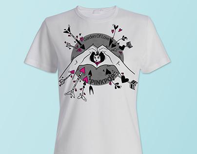 Design t shirt PINKPOP Garden of Love 2015