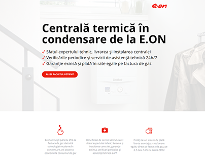 Landing Pages for E.ON PPC campaigns