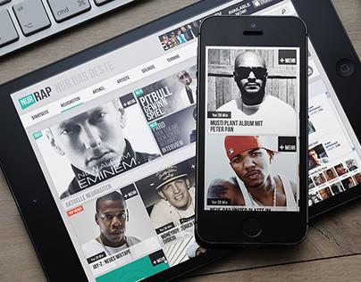 NurRap (Music Portal) - Website