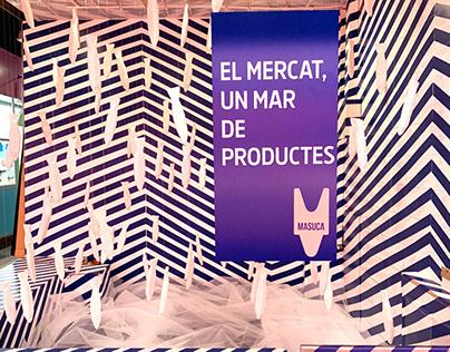 Un mar de productes, temporary installation