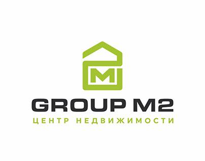 Логотип для агентства недвижимости Group M2.