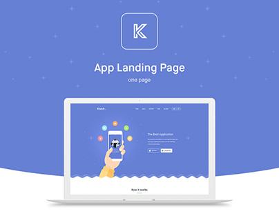 Knock - App Landing Page