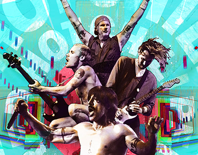 Red Hot Chili Peppers Ilustración Experimental