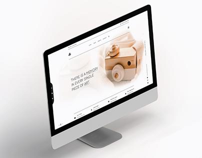 Hand Made Landing Page | UI Design Hand Crafting