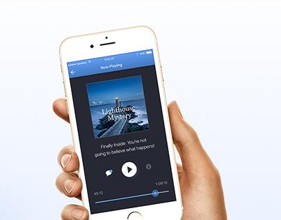 Custom Podcast App Redesign