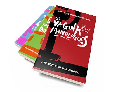 Virago Voices - Little Brown Book Cover Designs