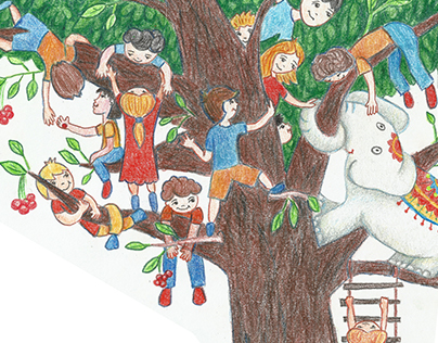 Elephant on a tree