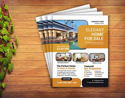 Realestate Flyer Design Template