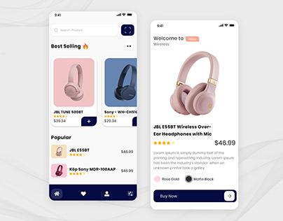 Headphones eCommerce App Design Concept