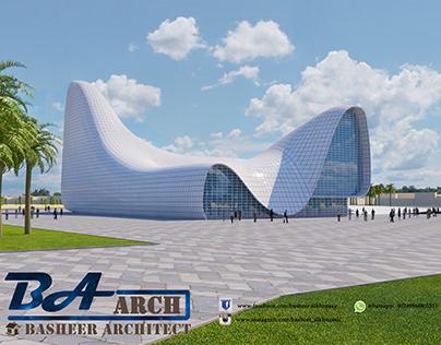 محاكاة لمركز حيدر عليف في أذربيجان بإستخدام الريفيت