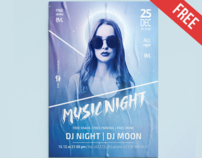 FREE MUSIC NIGHT FLYER TEMPLATE IN PSD