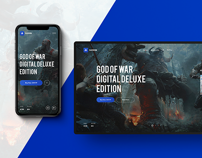 Playstation Website Concept
