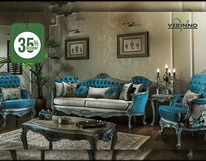 classic furniture advertising