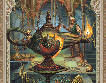 """illustrations for the book of """"Arabian tales"""""""
